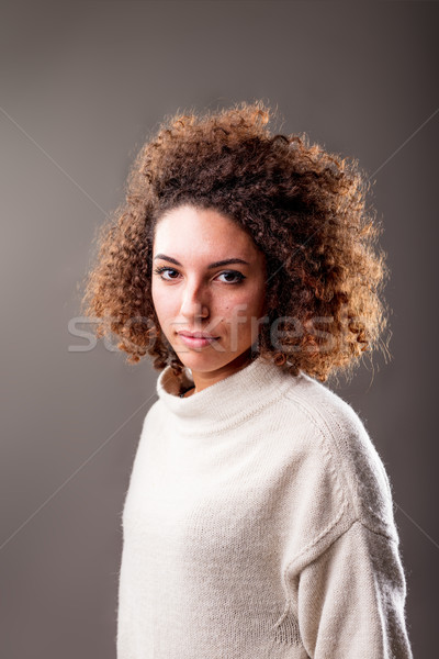 intense look of a normal woman Stock photo © Giulio_Fornasar
