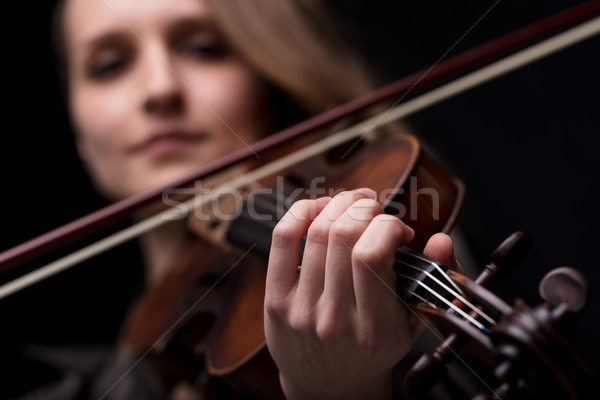 hand of a violinist playing Stock photo © Giulio_Fornasar
