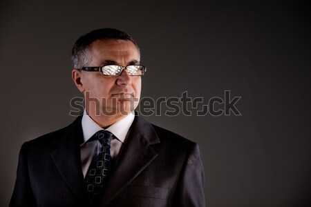 Stock photo: Tecno boss looking where we can't