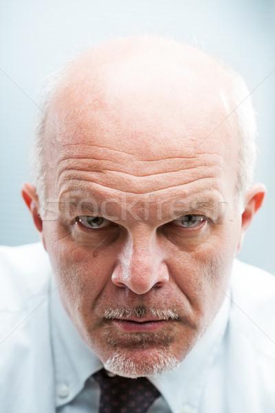 bad worker frowning at camera Stock photo © Giulio_Fornasar