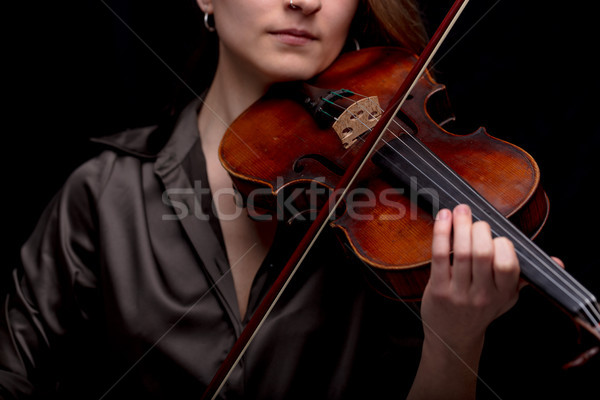 classical music concept with unrecognizable violinist Stock photo © Giulio_Fornasar