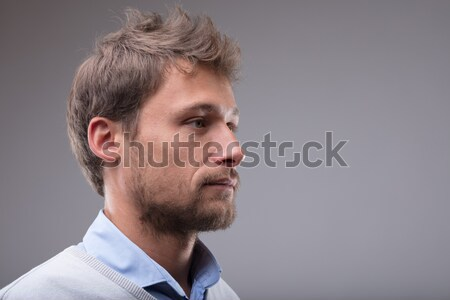 Side profile portrait of a young blond man Stock photo © Giulio_Fornasar