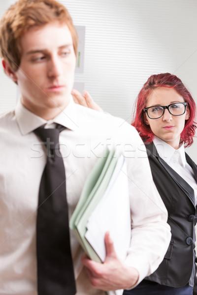 woman publicly offending a colleague Stock photo © Giulio_Fornasar