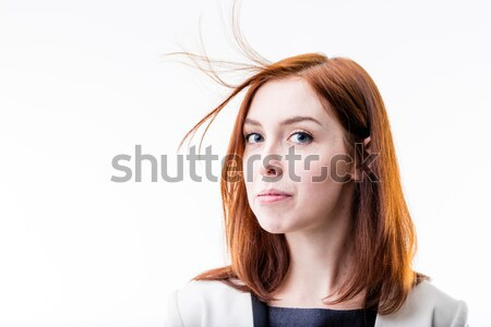 elegant woman blowing away her hair Stock photo © Giulio_Fornasar