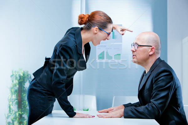 business woman shouting against a man Stock photo © Giulio_Fornasar