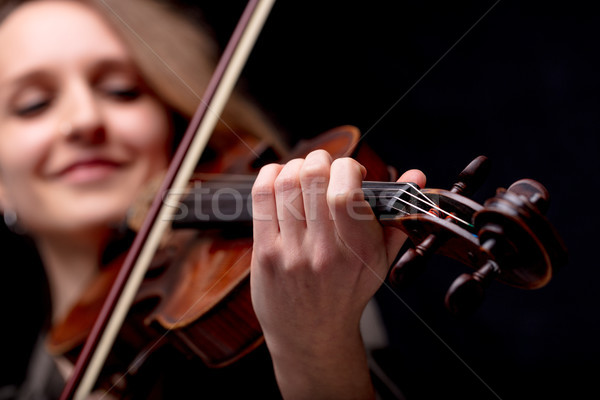 hand closeup of a violinist classical musician Stock photo © Giulio_Fornasar