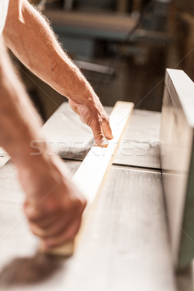 woodworker hands with wooden board Stock photo © Giulio_Fornasar