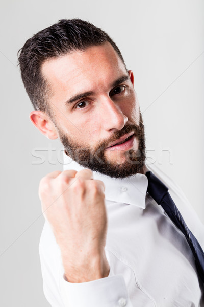 successful businessman on a white background with beard Stock photo © Giulio_Fornasar