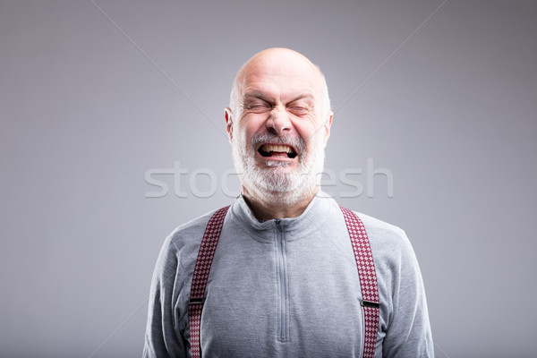 exaggerated tearing old man expression Stock photo © Giulio_Fornasar