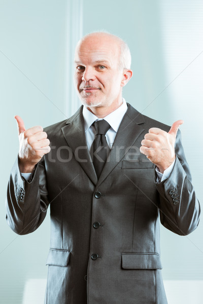 businessman showing double thumb up Stock photo © Giulio_Fornasar