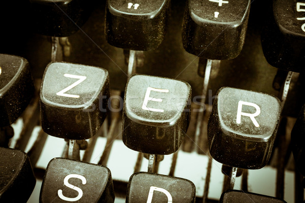 E letter on a vintage typewriter keyboard Stock photo © Giulio_Fornasar