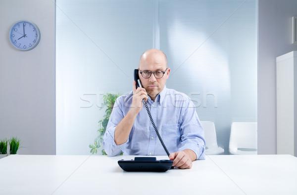 Pas téléphone aider bureau malheureux homme Photo stock © Giulio_Fornasar