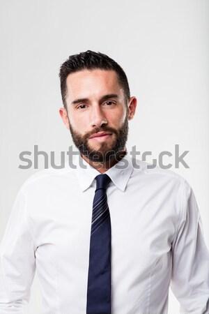 Retrato empresario barba camisa hombre Foto stock © Giulio_Fornasar