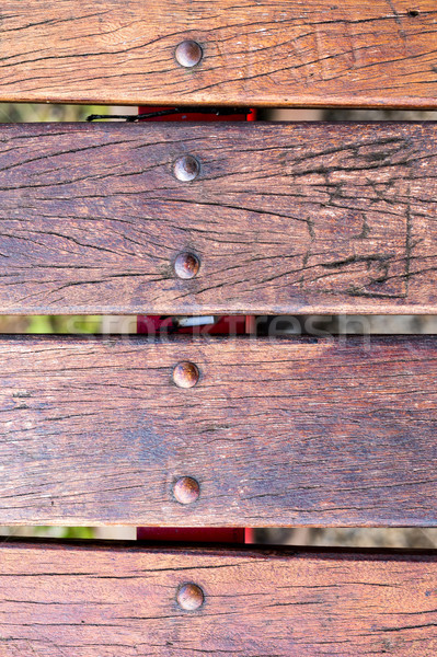wood texture or background with bolts Stock photo © Giulio_Fornasar