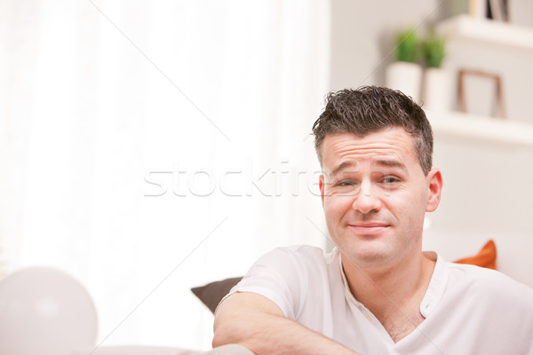 Adam sinsi gülen emin Stok fotoğraf © Giulio_Fornasar