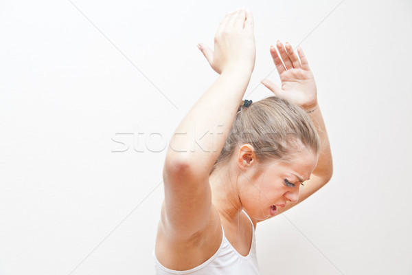 young woman energically disapproving the situation Stock photo © Giulio_Fornasar