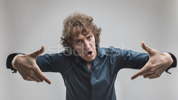 man threatening you with violence promise Stock photo © Giulio_Fornasar