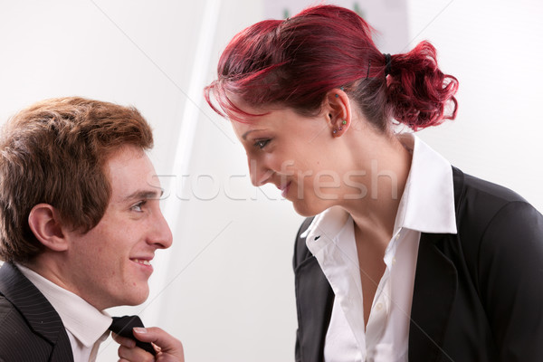 woman sweetly staring at his man  Stock photo © Giulio_Fornasar