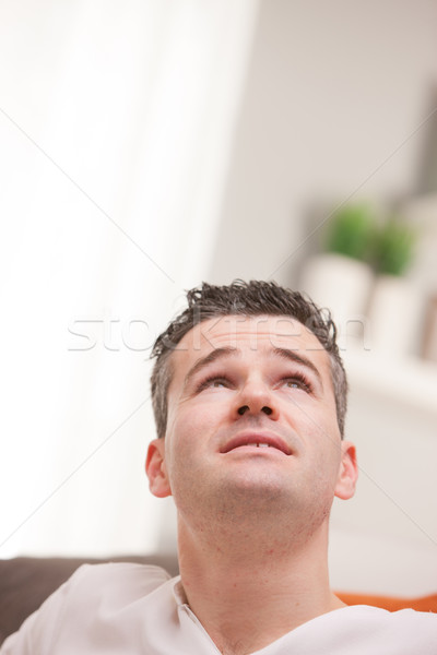 relaxed man thinking about ideas or future Stock photo © Giulio_Fornasar