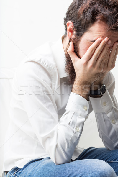 man having problems or headache Stock photo © Giulio_Fornasar