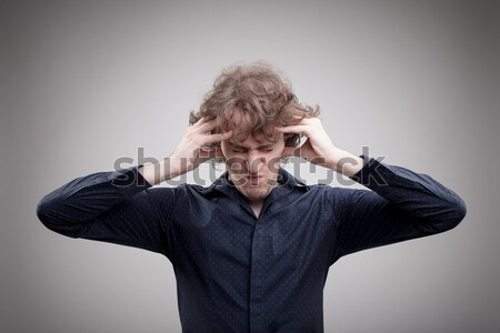 overthinking could be stressful and dangerous Stock photo © Giulio_Fornasar