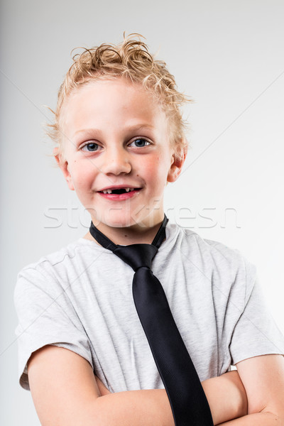 portrait of a very young businessman Stock photo © Giulio_Fornasar