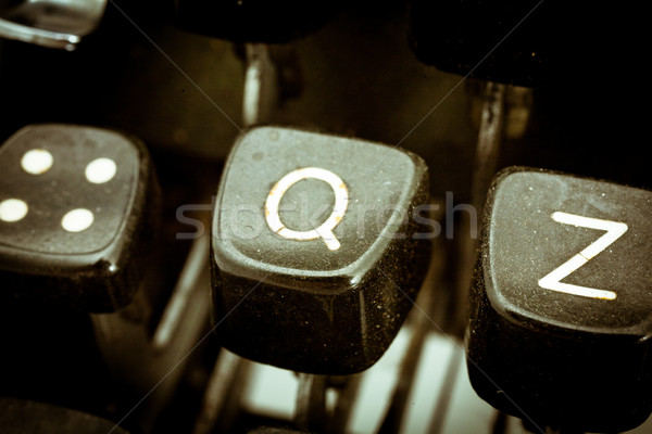 Q letter on a vintage typewriter keyboard Stock photo © Giulio_Fornasar