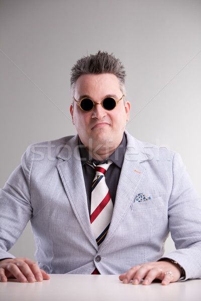 plump aggressive bossy businessman waiting Stock photo © Giulio_Fornasar