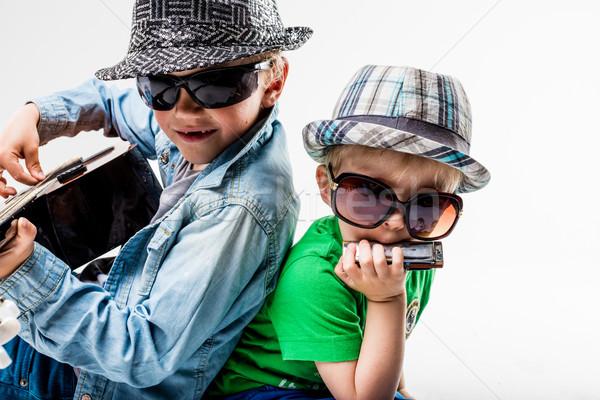 новых дети играет громко рок два Сток-фото © Giulio_Fornasar