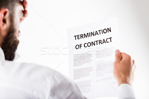 man being fired with contract termination Stock photo © Giulio_Fornasar