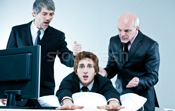 manager and boss discover lazy employee Stock photo © Giulio_Fornasar