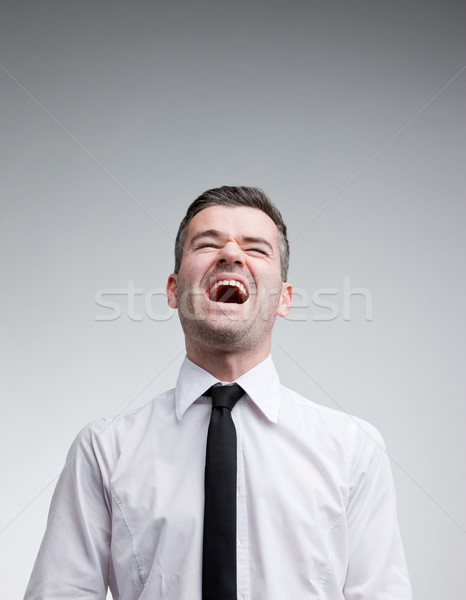 man laughing out loud with a necktie Stock photo © Giulio_Fornasar