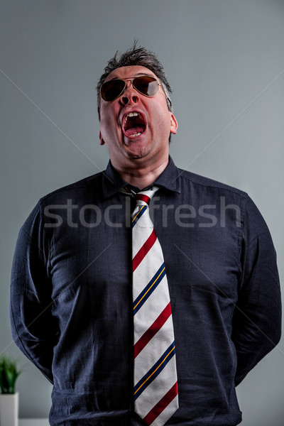 military style bossy manager shouting out Stock photo © Giulio_Fornasar
