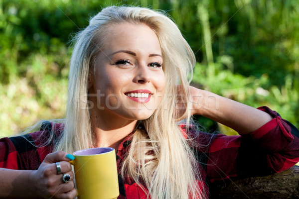 笑みを浮かべて 自然 飲料 茶 ストックフォト © Giulio_Fornasar