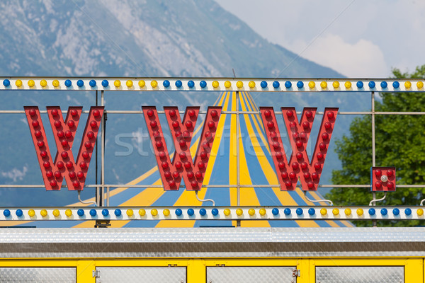 world wide web circus neon sign www Stock photo © Giulio_Fornasar