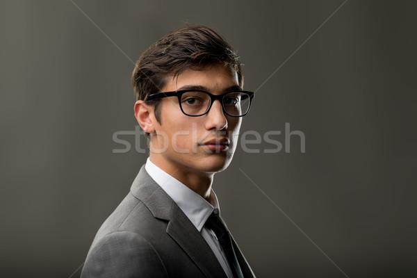 Portre değiştirmek gizlemek yakışıklı hazır Stok fotoğraf © Giulio_Fornasar