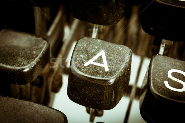 A letter on a vintage typewriter keyboard Stock photo © Giulio_Fornasar