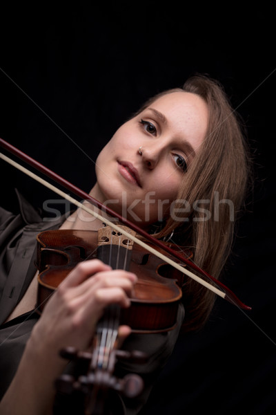 violinist woman looking at camera  Stock photo © Giulio_Fornasar
