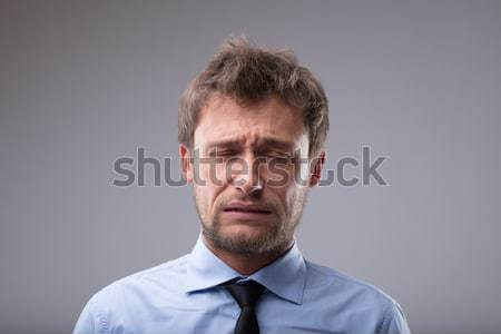 Upset man about to burst into tears Stock photo © Giulio_Fornasar