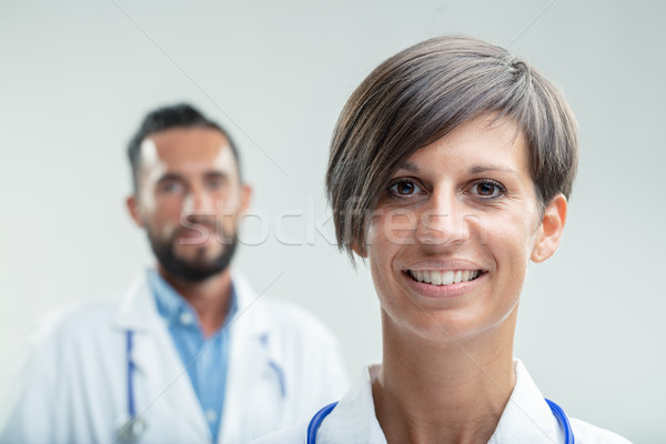 Portrait of a confident female nurse or physician Stock photo © Giulio_Fornasar