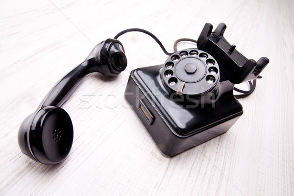 old rotary dial telephone Stock photo © Giulio_Fornasar
