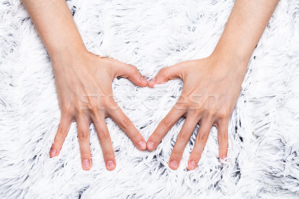 I love to touch furry blankets Stock photo © Giulio_Fornasar