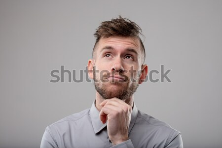 Thoughtful man pondering a problem Stock photo © Giulio_Fornasar