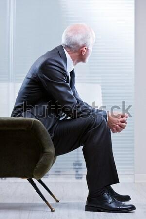 Photo stock: Désespérée · homme · présents · homme · d'affaires · tête