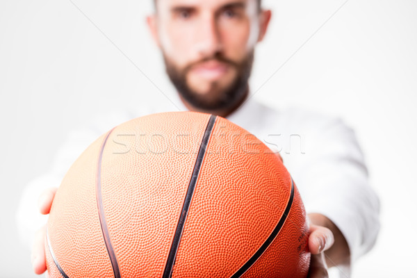 businessman passing the ball to you Stock photo © Giulio_Fornasar