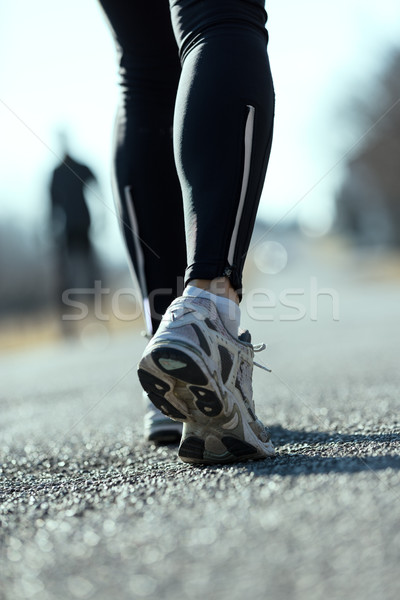 feet of a running woman outdoors on the street Stock photo © Giulio_Fornasar