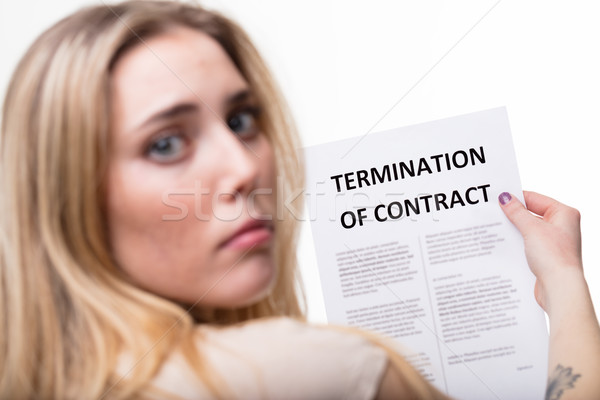 termination of employment concept with blonde woman Stock photo © Giulio_Fornasar