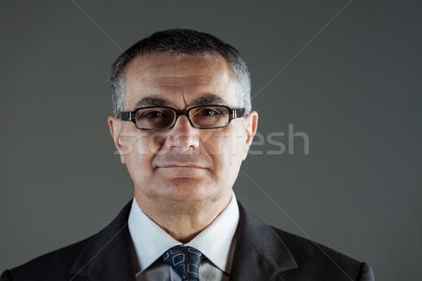 Aantrekkelijk zakenman bril naar Stockfoto © Giulio_Fornasar