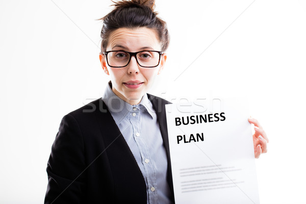 Stock photo: never again without a business plan