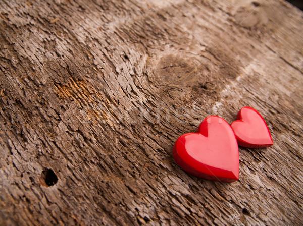поиск сердце золото пару красный сердцах Сток-фото © Giulio_Fornasar